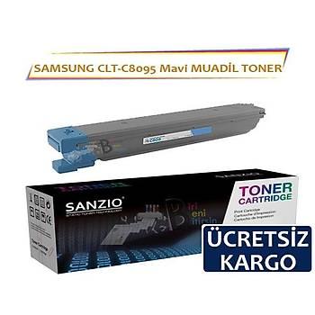 For Samsung CLT C809S Mavi Muadil Toner 20.000 Sayfa MultiXpress CLX 9201NA 9251NA 9301NA