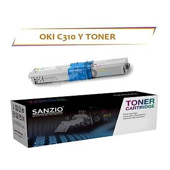 Oki C310 Sarý Muadil Toner C330 C510 C511 C530 MC352 MC361 561