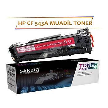 HP CF543A Çipsiz Kýrmýzý Muadil Toner HP PRO M254 M280 M281