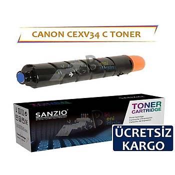 Canon CEXV34 Mavi Muadil Toner Copier C2020 C2025 C2030