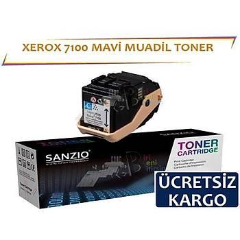 Xerox Phaser 7100 Muadil Toner Mavi