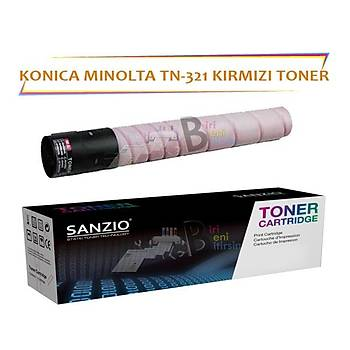Konica Minolta TN 321M Kýrmýzý 25 000 Sayfa Muadil Toner Bizhub C224 C284 C364