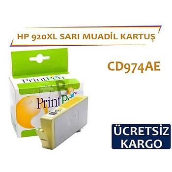 HP 920 XL Sarý Muadil Kartuþ CD974AE