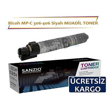 Ricoh MP C 306 406 Siyah Muadil Toner 9500 Sayfalýk