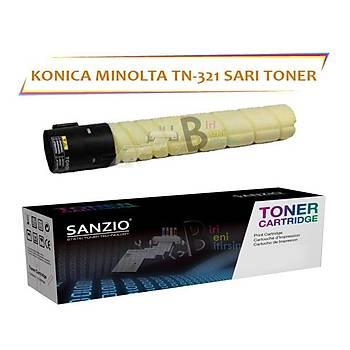 Konica Minolta TN 321Y Sarý 25.000 Sayfa Muadil Toner Bizhub C224 C284 C364
