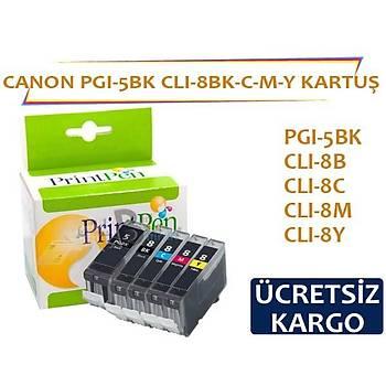 CANON PGI-5 CLI-8 Muadil kartuþ seti 5 kartuþ
