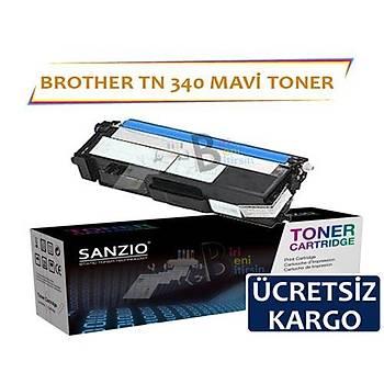 For Brother Tn 340 C Mavi Muadil Toner Dcp9055 Hl 4150 4570 Mfc9460 9969