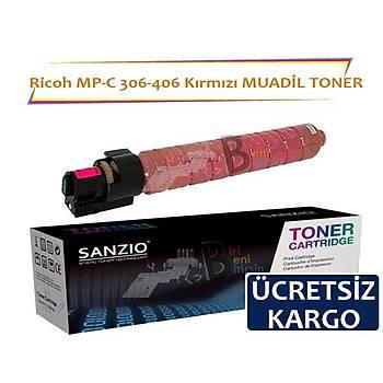 Ricoh MP C 306 406 Kýrmýzý Muadil Toner 9500 Sayfalýk
