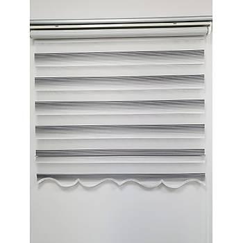 BBB Mikro Pliseli Renk Geçiþli Zebra Stor Perde MZ285