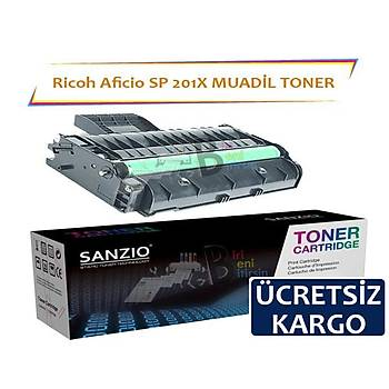 Ricoh Aficio SP 201X 2600 Sayfa Muadil Toner SP200 203 204 210