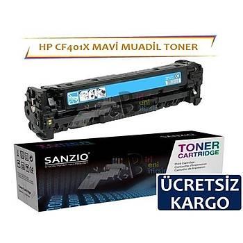 HP Color LaserJet CF401X Muadil Toner Mavi 201X MFP M274N M252N M252DW M277DW