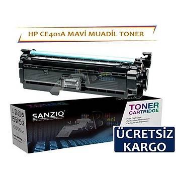 HP CE401A Muadil Toner Mavi 507A MFP M575 M55