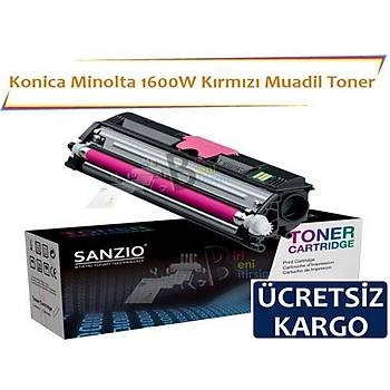 Konica Minolta 1600W Kýrmýzý Muadil Toner Fax 1600 1600E 2600 2800 3600 3800