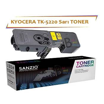Kyocera Mita TK5220 Yellow Sarý 1200 Sayfa Muadil Toner Ecosys P5021 M5521