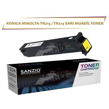 Konica Minolta TN 213 TN 214Y Sarý Muadil Toner C253 C203 C200
