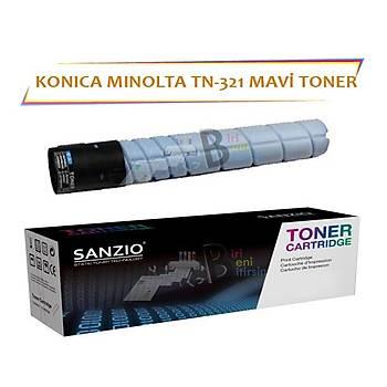Konica Minolta TN 321C Mavi 25 000 Sayfa Muadil Toner Bizhub C224 C284 C364