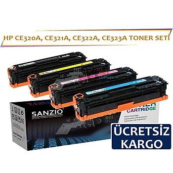 HP Color LaserJet CE320A 128A Muadil Toner Seti Cm1415 Cp1525