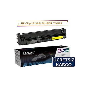 HP CF412A Sarý Muadil Toner M452dn MFP M477fdn M452nw M377dw M477