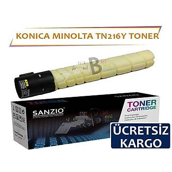 Konica Minolta TN216 Sarý Muadil Toner C220 C280 C360