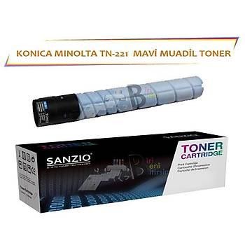 Konica Minolta TN 221 C Muadil Toner Bizhub C227 C287