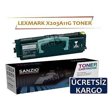 Lexmark X203A11G Muadil Toner X204N X203N