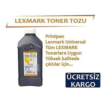 Printpen Lexmark Tonerler Ýçin Siyah Toner Tozu 1Kg