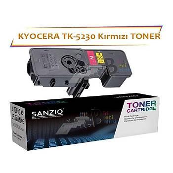 Kyocera Mita TK5230 Magenta Kýrmýzý 2200 Sayfa Muadil Toner ECOSYS P5021 M5521