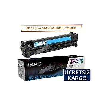 HP CF411A Mavi Muadil Toner M452dn MFP M477fdn M452nw M377dw M477