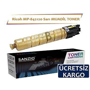 Ricoh MP C305SF Ricoh 842120 (841593) Yellow Sarý Muadil Toner MP C305SPF C305SP