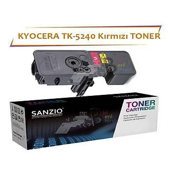 Kyocera Mita TK5240 Magenta Kýrmýzý 3000 Sayfa Muadil Toner Ecosys M5526 P5026
