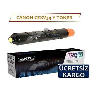 Canon CEXV34 Sarý Muadil Toner C2020 C2025 C2030