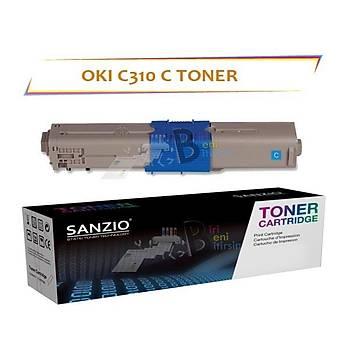 Oki C310 Mavi Muadil Toner C330 C510 C511 C530 MC352 MC361 561