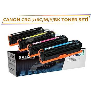 CANON CRG-716C/M/Y/K Muadil Toner  Seti LBP5050 MF8030CN MF8050CN