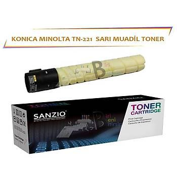 Konica Minolta TN 221 Y Muadil Toner Bizhub C227 C287