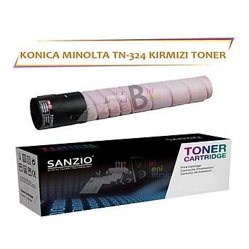 Konica Minolta TN 324M (A8DA330) Magenta Kýrmýzý Muadil Toner Bizhub C258 C308 C368