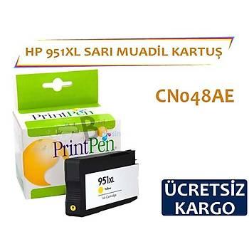 HP 951 XL Sarý Muadil Kartuþ CN048AE