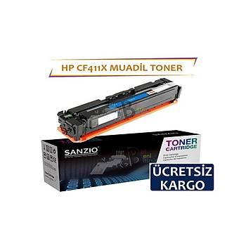 HP CF411X Mavi Muadil Toner 5000 sayfalýk M452dn MFP M477fdn M452