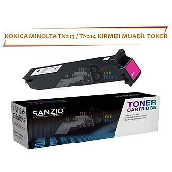 Konica Minolta TN 213 TN 214M Kýrmýzý Muadil Toner C253 203 200