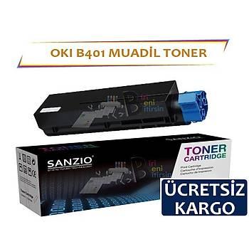 Oki B401 Muadil Toner B401 MB441 MB451