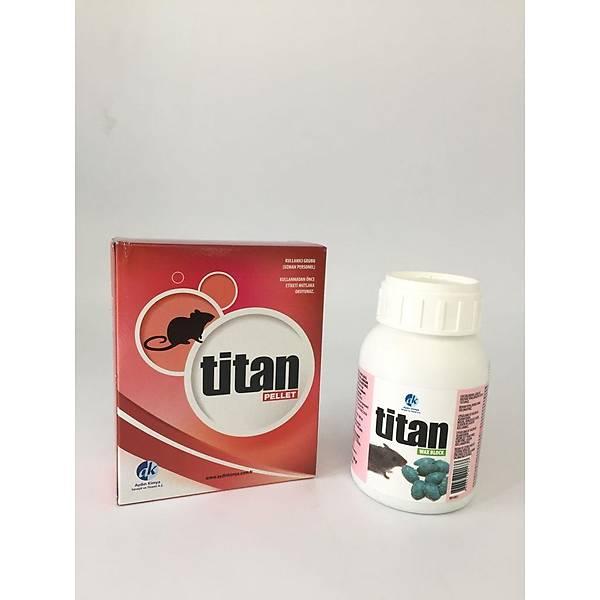 Titan Wax Block 4 Gr'lýk Blok Fare Zehri 100 Gr + Titan Pellet Fare Zehiri 80 G
