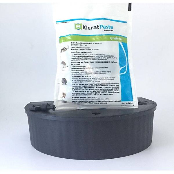 Syngenta Klerat Pasta Fare Zehiri 100 G + Fare Ýstasyonu