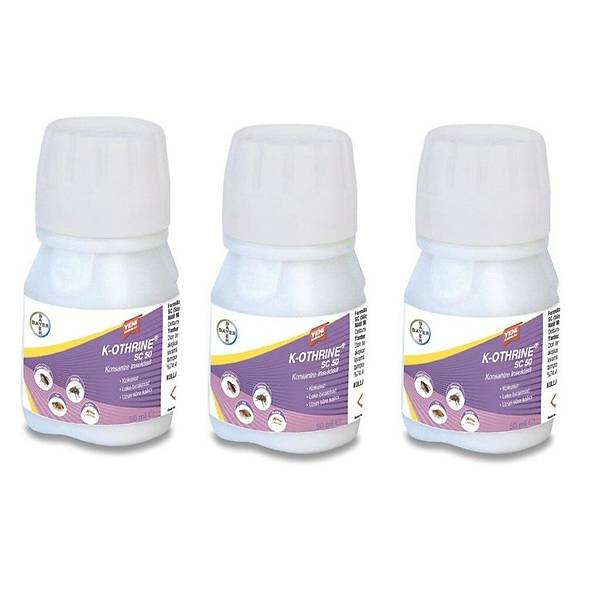 Bayer K-Othrine SC 50 Genel Haþere Ýlacý 3 x 50 ML