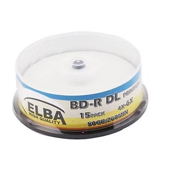 Elba Blu-Ray BD-R 6X 50GB 15LÝ Cake Box Prýntable