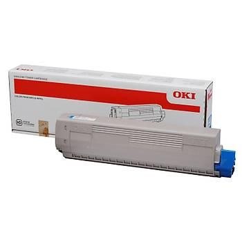 Oki C831-841 10bin Sayfa Cyan Mavi Toner 44844507