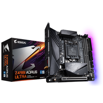 Gigabyte Z490I Aorus Ultra Intel 10.Nesil DDR4 Dp-Hdmi M2 mATX Anakart