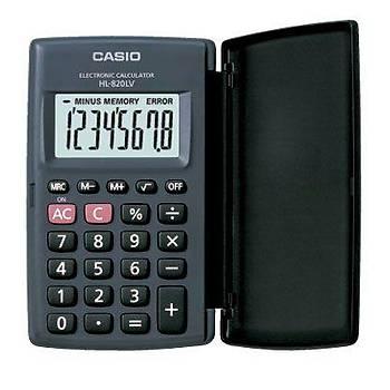 Casio HL-820LV-BK 8 Hane Siyah Cep Tipi Hesap Makinesi