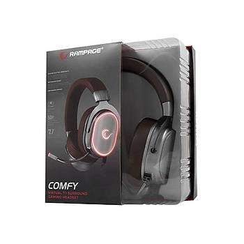Rampage RGW8 Comfy Siyah Usb 7,1 Version Oyuncu Mikrofonlu Kulaklýk
