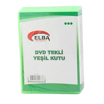 Elba PL-221E Tekli Yeþil Renkli Standart Dvd Kutusu