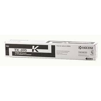 Kyocera TK-895K Black Siyah Orjinal Fotokopi Toneri FS-C8020-8025-8520-8525 12.000 Sayfa