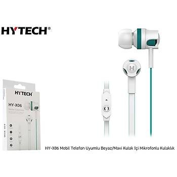 Hytech HY-X06 Mobil Telefon Uyumlu Beyaz-Mavi Kulaklýk